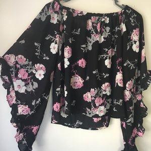 Charlotte Russe Tops - Sheer Floral Blouse